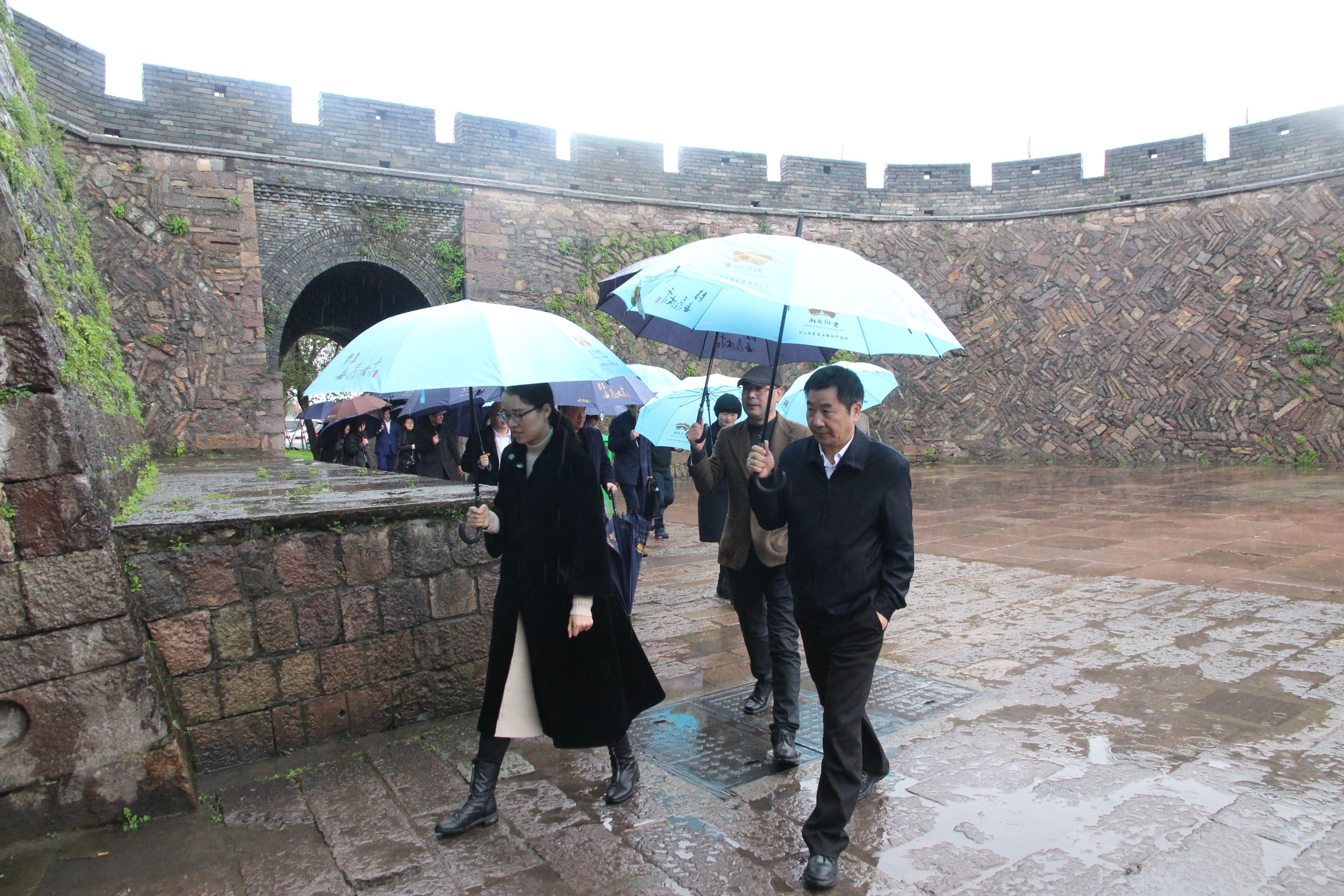 台州市文化和广电旅游体育局来台州府城文化旅游区调研
